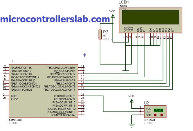 DS18S20 interfacing with avr microcontroller