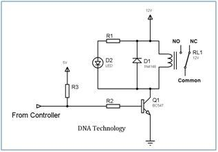 Relay_Driver_Circuit_Using_Single_Transistor