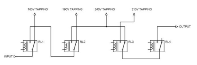 Transformer tappings with relays