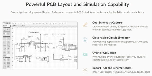 EasyEDA for circuit simulation and PCB design