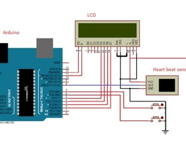 heart beat sensor with lcd display