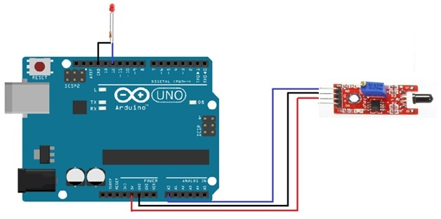 flame sensor interfacing with arduino using analog pin