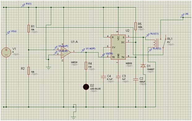 Circuit diagram automatic plant watering system