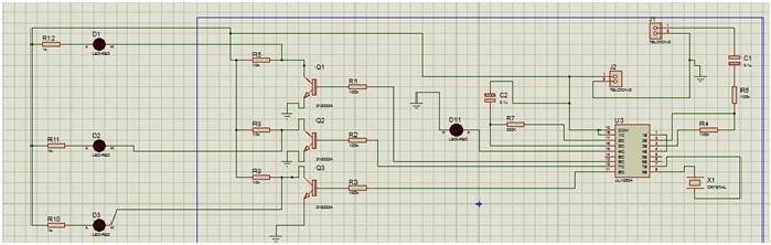 DTMF Home automation system circuit diagram