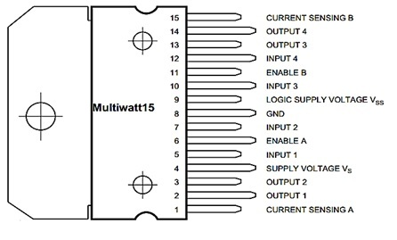 l298 motor driver pin outs