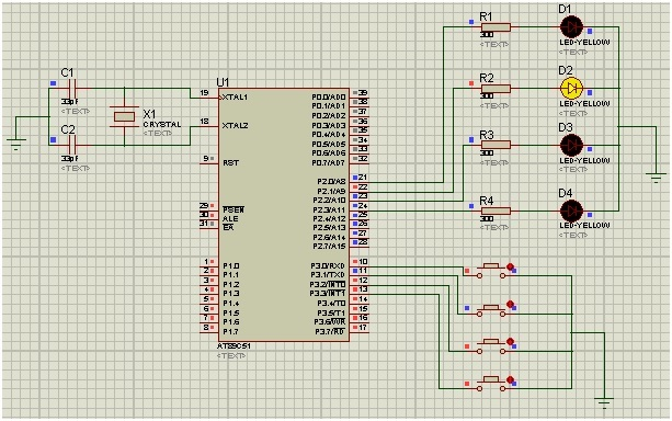 input output ports 8051 microcontroller | LED blinking example