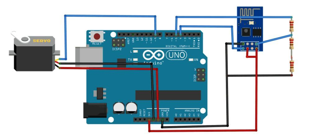 Web Controlled Servo Motor using Arduino and esp8266