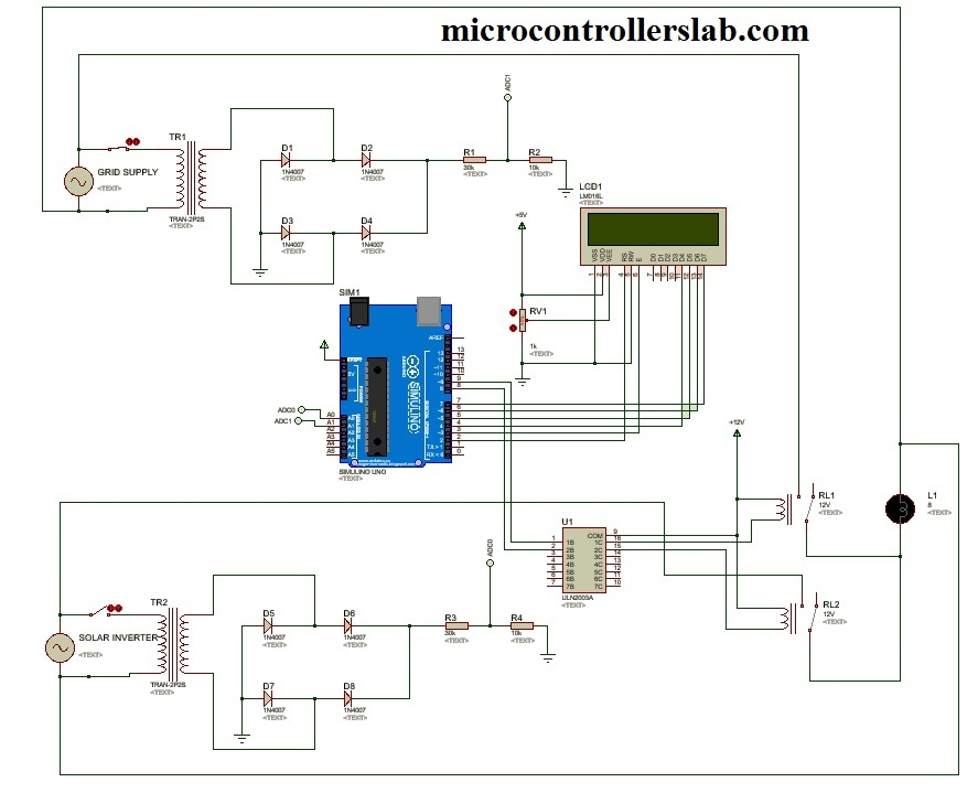 Automatic power source selector circuit using Arduino