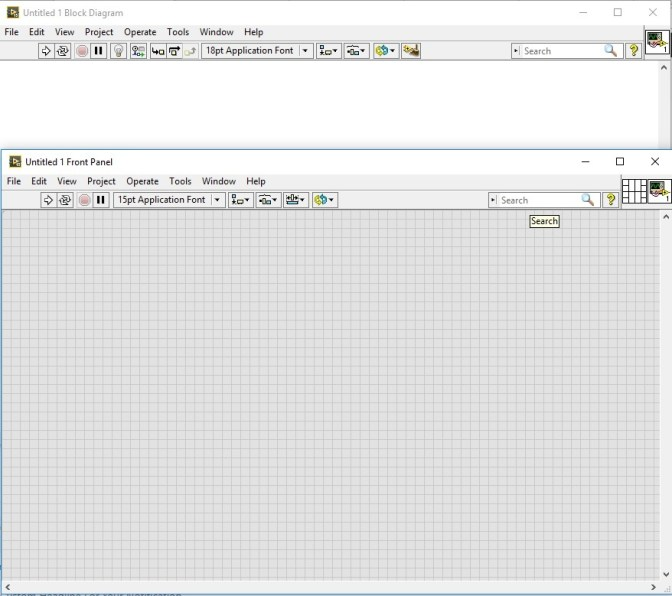 labview block diagram and front panel
