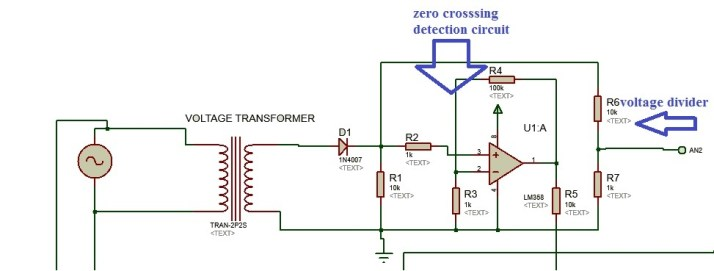 voltage measurement circuit for three phase watt meter