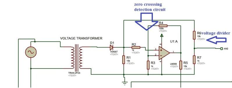 voltage measurement circuit for three phase watt meter