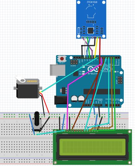 Door Security System Using RFID RC522 and Arduino circuit diagram