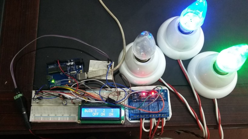 IR remote controlled home automation system using Arduino