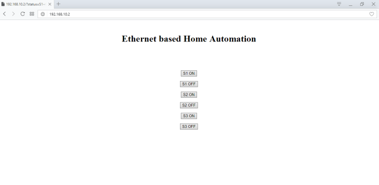 ethernet based home automation project using arduino control through server