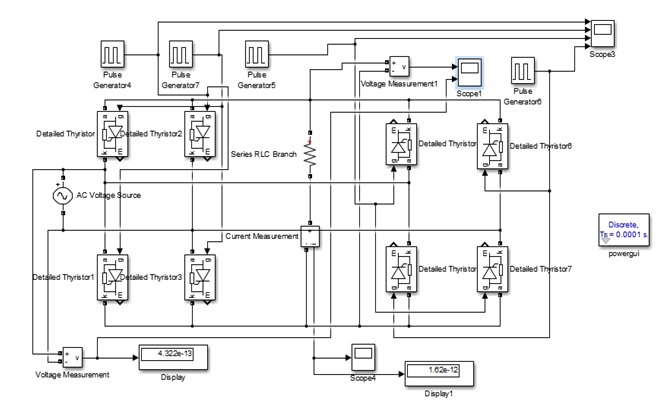 Single Phase to Single Phase Cycloconverter Design Using Simulink