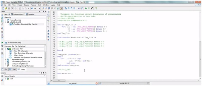 VHDL programming for loop code 3