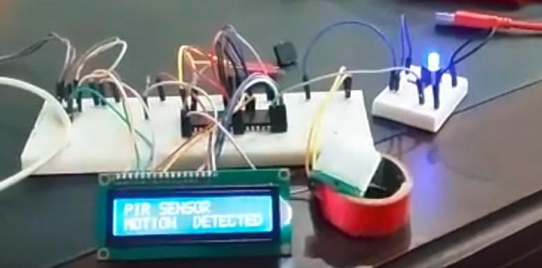 PIR sensor motion detector