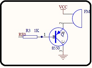 Buzzer module with transistor