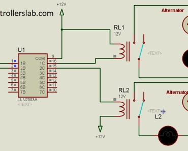 microcontroller interfacing with relays using ULN2003