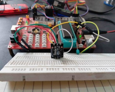 shock sensor module interfacing with pic16f877a microcontroller