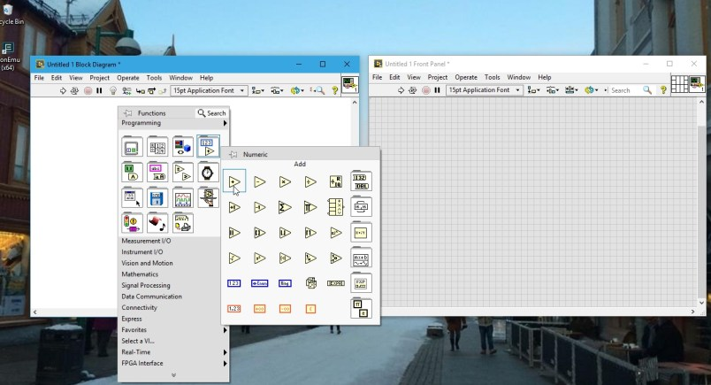 Add component in labview