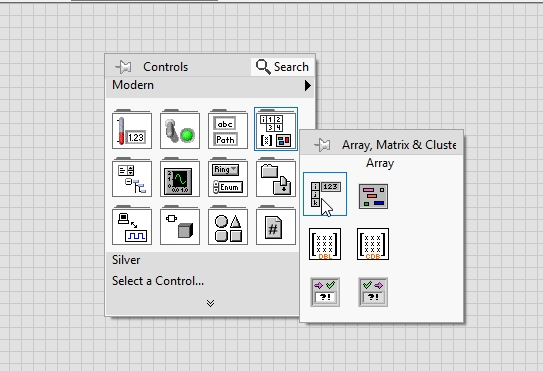 Array constant placement in labview