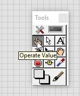 Manual operate value
