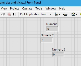 Unaligned blocks in labview