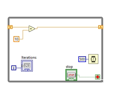 Shifting values labview shift registers
