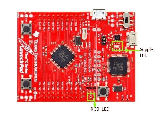 TM4C123G LaunchPad onboad LEDs