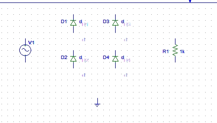Simulation of rectifiers in Pspice: tutorial 4