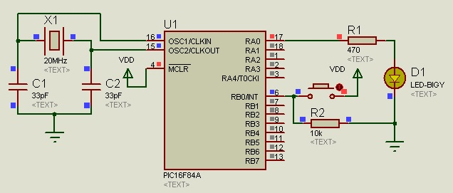 external interrupt example pic16f84a