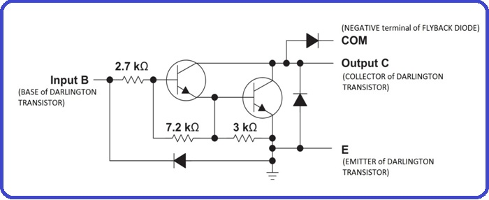 Introduction to ULN2803 - pin configuation, how to use it on max232 schematic, lm317 schematic, relay driver circuit schematic, abb robot schematic,