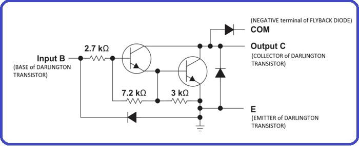 3 ULN2803 darlington pair circuit diagram