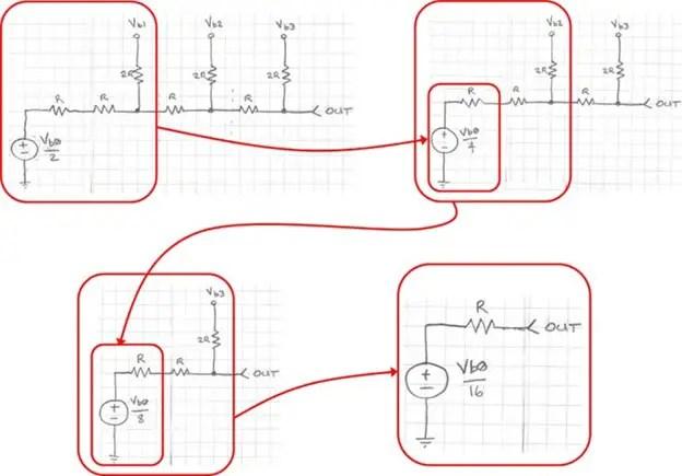 6 R-2R ladder network DAC