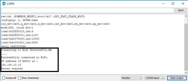 DHT11 WEB SERVER ESP32