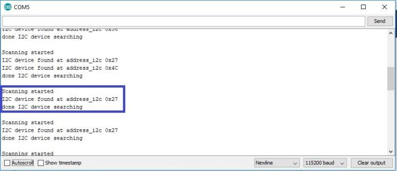 I2C LCD address with ESP32