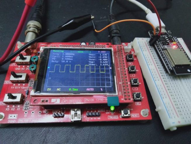 PWM with ESP32 with LED fading example