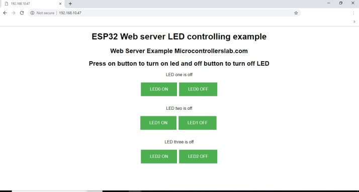 accessing ESP32 webserver