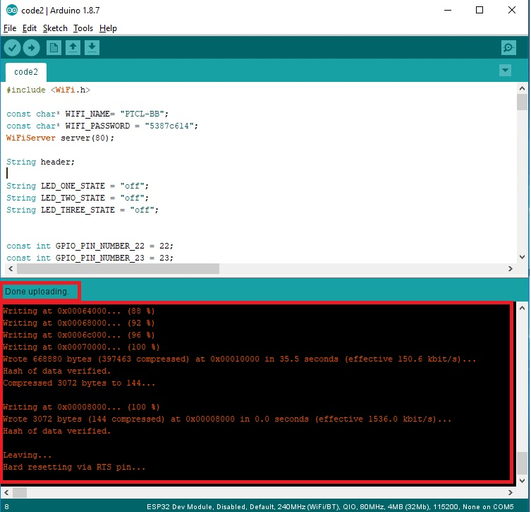 Create ESP32 Web server in Arduino IDE : controlling LEDs