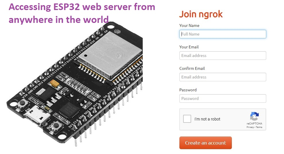 Accessing ESP32 web server from anywhere in the world ( ESP8266