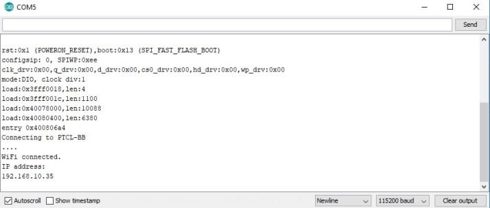 servo motor web server accessing through IP address