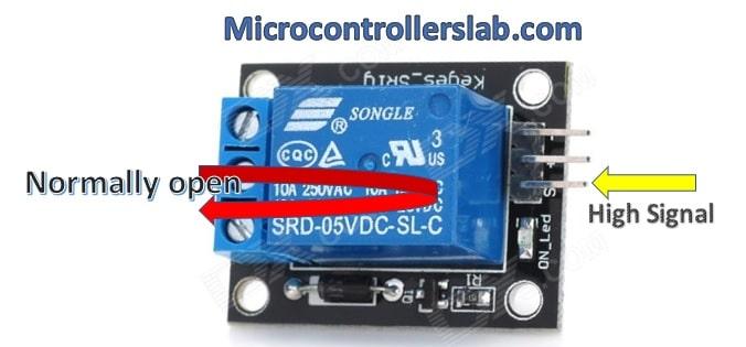 ESP32 web server control relay and 220 volt lamp