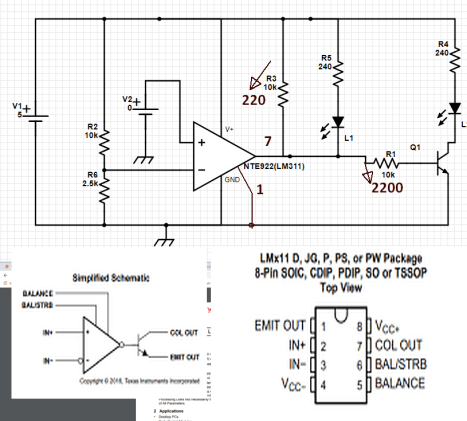 Alternate LEDs example NTE922
