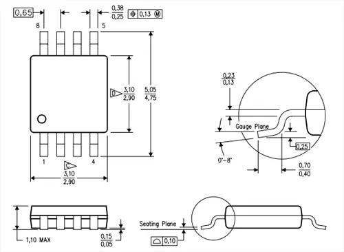 2D Dimensions diagram