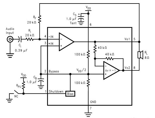 LM4871 Example circuit diagram