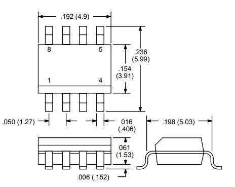 Voltage Comparator 2D dimensions