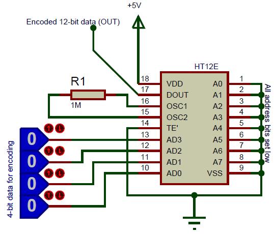 HT12E circuit diagram
