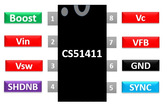CS51411 pinout diagram