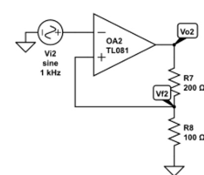TL081 as a inverting amplifier Example
